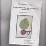 Beaded leaf needlebook - $35.00
