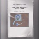 Flower basket needlebook - KIT - $35.00