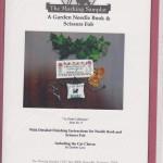 Garden needle book and scissor fob - $12.00