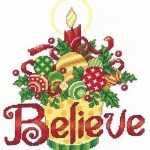 Believe ornaments $10.00